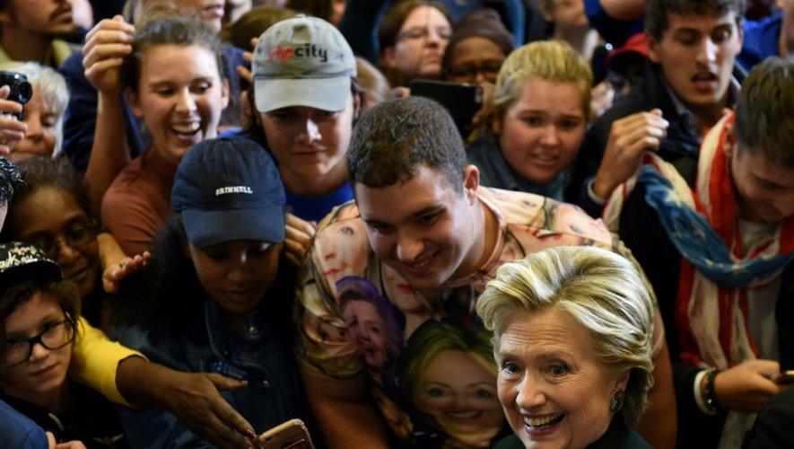 La candidate démocrate à la présidentielle américaine Hillary Clinton, le 21 octobre 2016 à Cleveland
