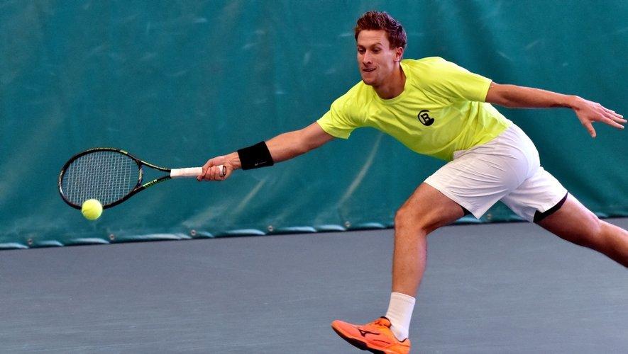 Actuel 352e joueur mondial, Maxime Authom a enlevé pour la 3e fois le tournoi aveyronnais.