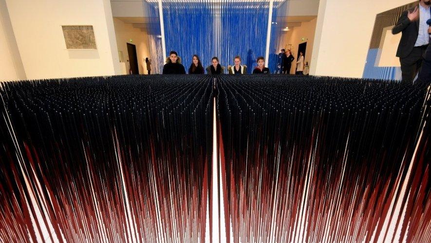 Musée Soulages : premier aperçu de l'exposition Soto en images