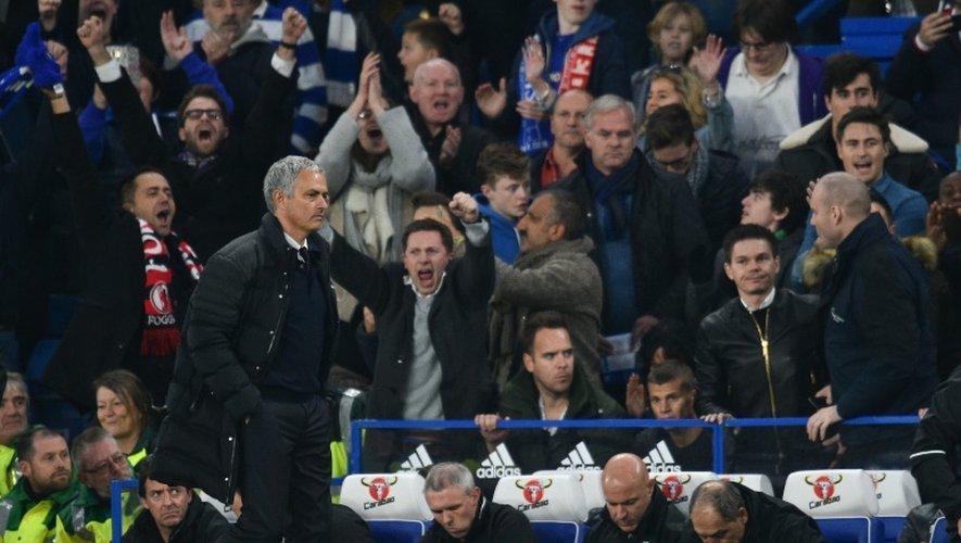 L'entraîneur de Manchester United José Mourinho à l'issue du match perdu contre Chelsea, le 23 octobre 2016 à Stamford Bridge