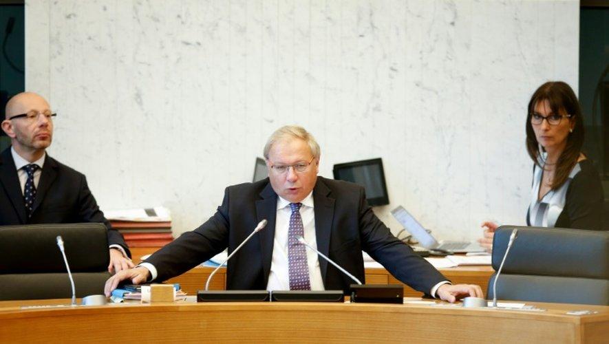 Le président du parlement de Wallonie, André Antoine à Namur, le 14 octobre 2016