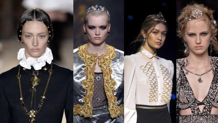 Valentino Haute Couture Paris, Moschino Milan, Tommy Hilfiger New York et Alexander McQueen Londres