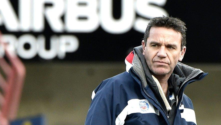 Mike Ford, alors manager de Bath, lors d'un match de Coupe d'Europe à Toulouse, le 18 janvier 2015