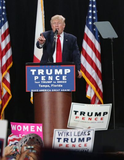 Donald Trump lors d'un meeting le 24 octobre 2016 en Floride