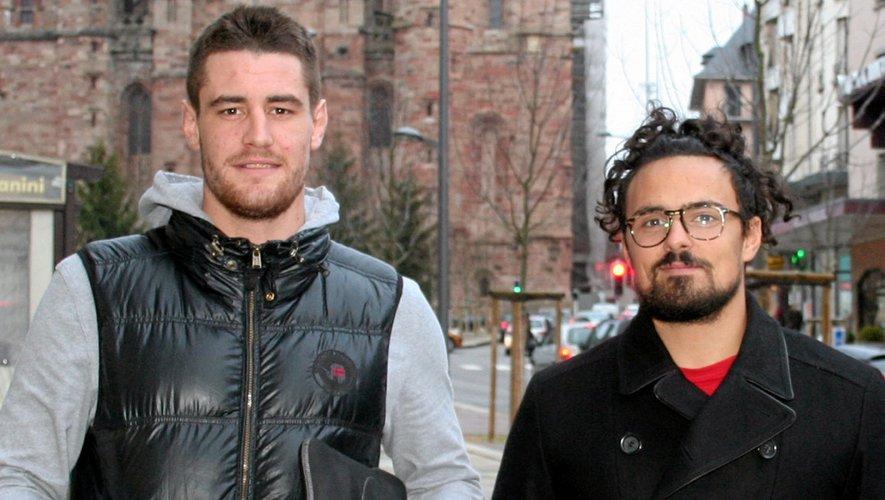 Thomas Pagès et Adrien Pratmarty ont troqué le short pour la tenue de ville afin de lancer au mieux possible le club entreprises du Stade Rodez Aveyron.