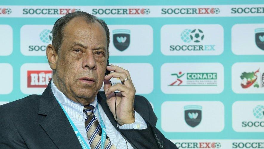Carlos Alberto Torres, le 12 mai 2016 à Mexico lors d'une conférence de presse