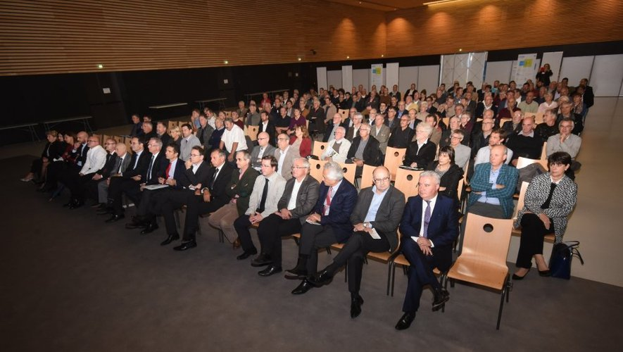 Les élus ont répondu en nombre à Hervé Simmonot.