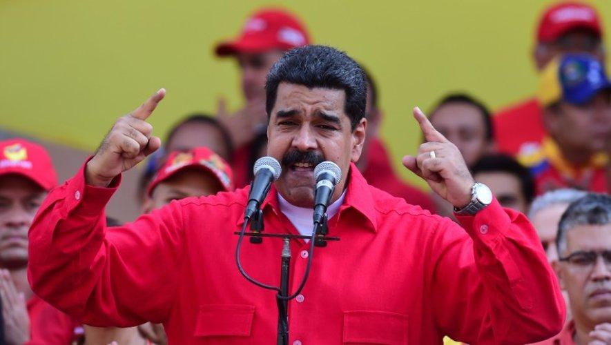 Le président du Venezuela Nicolas Maduro, le 25 octobre 2016 à Caracas