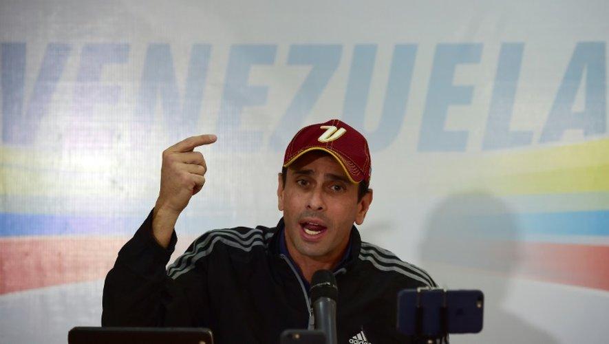 L'opposant vénézuélien Henrique Capriles, le 25 octobre 2016 à Caracas