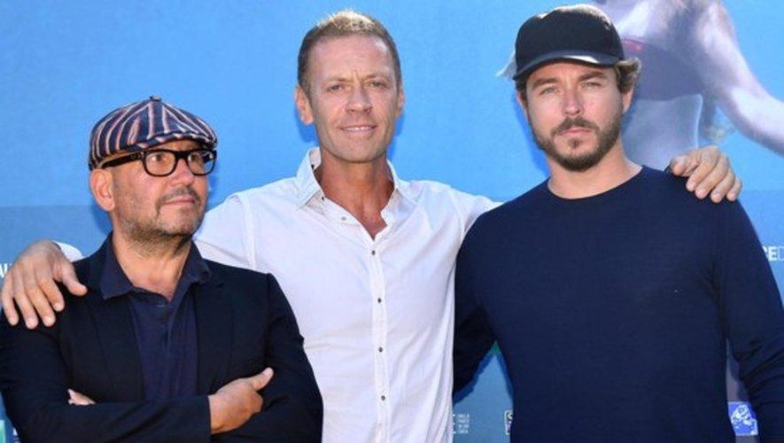 Rocco Siffredi entouré de Thierry Demaiziere et Alban Teurlai à la Mostra de Venise
