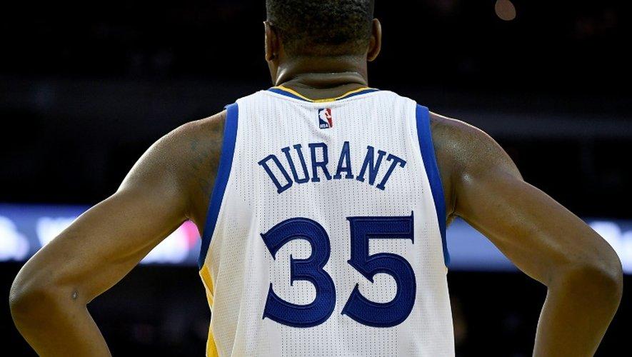 La recrue des Golden State Warriors Kevin Durant lors du match contre San Antonio, le 25 octobre 2016 à Oakland