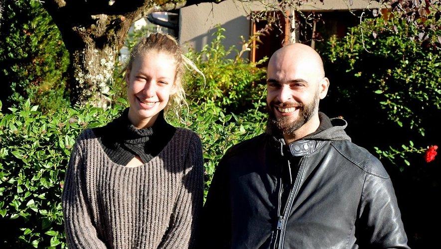 Kinza et son associé Nicolas.