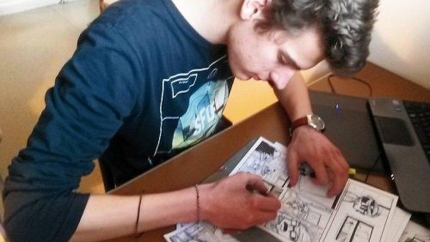 Gabriel Bargiel, dessinateur de BD, multiplie les prix du « neuvième art ».