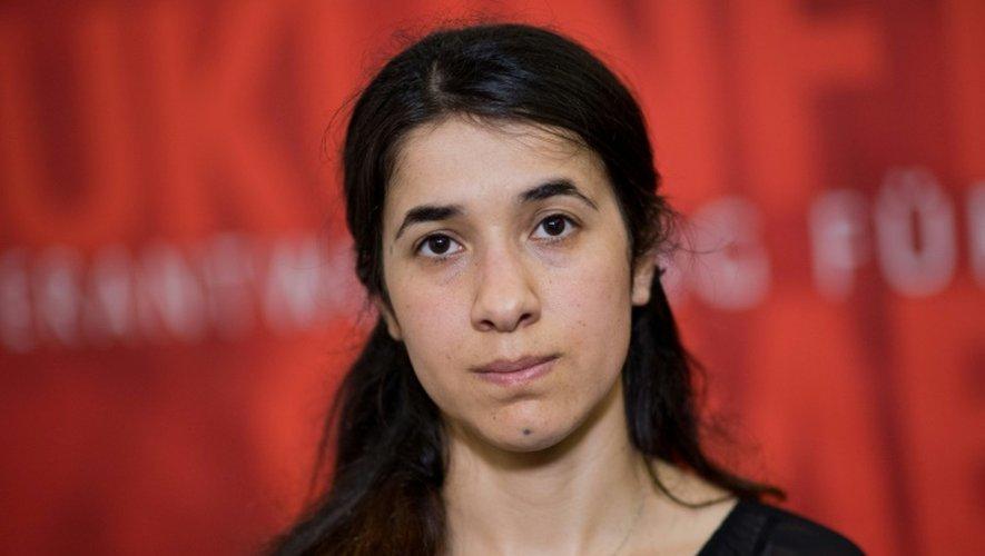 Nadia Murad, une femme yézidie, à Hanovre , en Allemagne, le 31 mai 2016
