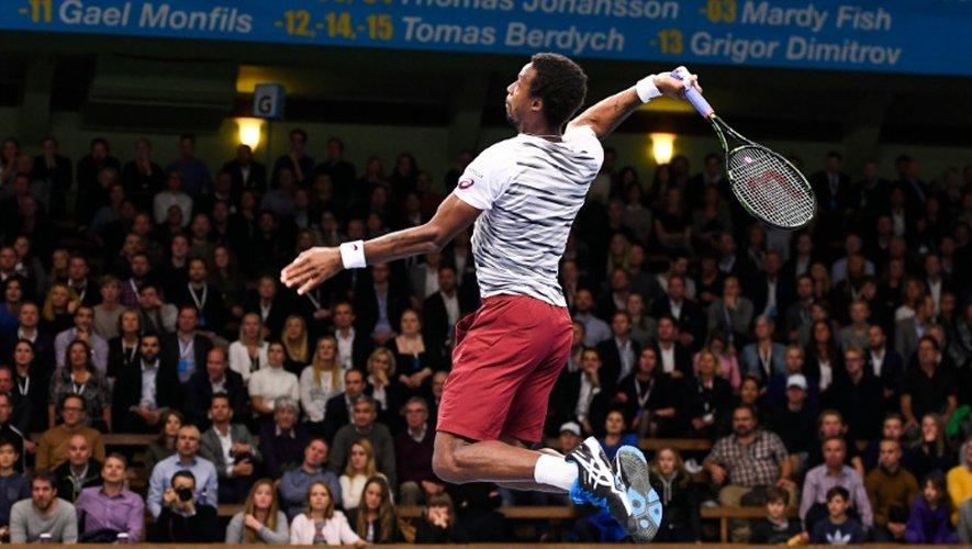 Le Français Gaël Monfils au tournoi ATP de Stockholm le 20 octobre 2016