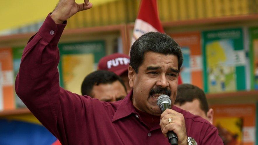 Le président vénézuélien Nicolas Maduro, le 28 octobre 2016 à Caracas
