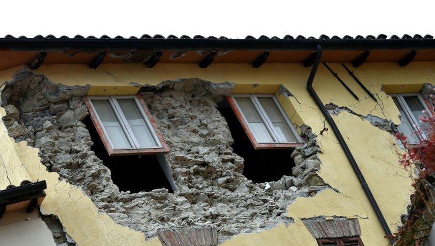 Dégâts à Camerino, en Italie, après le séisme, le 28 octobre 2016