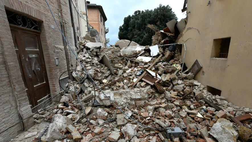 Destruction à Camerino, en Italie, après le séisme, le 28 octobre 2016