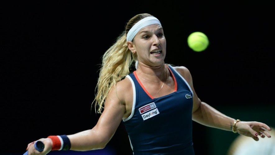 Dominika Cibulkova lors de la première demi-finale face à Svetlana Kuznetsova