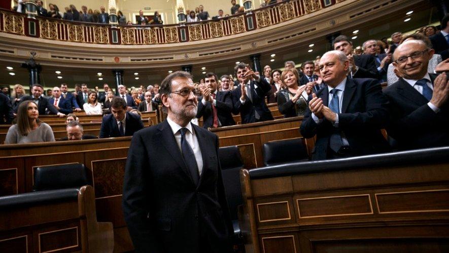 Le Premier ministre espagnol Mariano Rajoy,  au Parlement le 29 octobre 2016, à Madrid