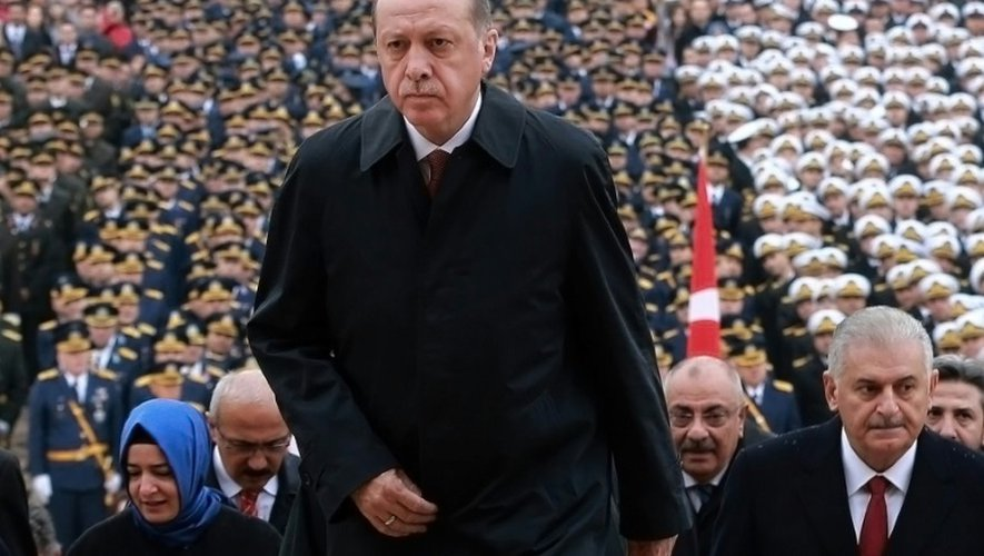 Le président turc Recep Tayyip Erdogan le 29 octobre 2016 à Ankara