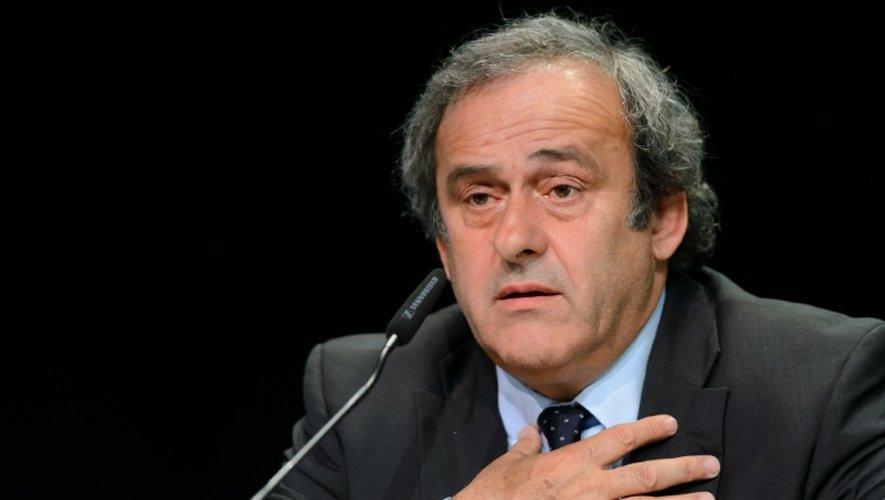Le président de l'UEFA Michel Platini, le 28 mai 2015 au Congrès de la Fifa à Zurich