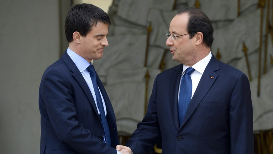 Manuel Valls et François Hollande à l'Elysée le 4 avril 2016