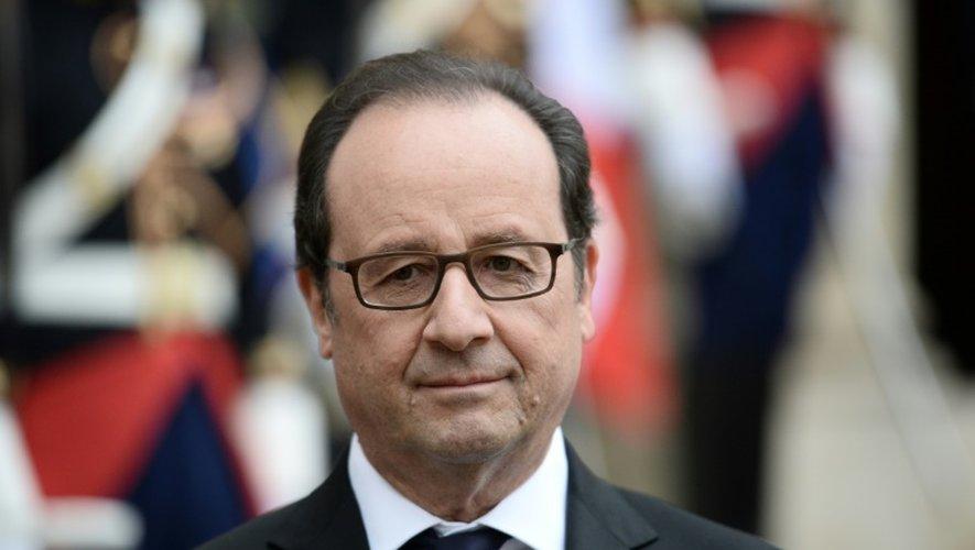Le président François Hollande à l'Elysée le 25 octobre 2016