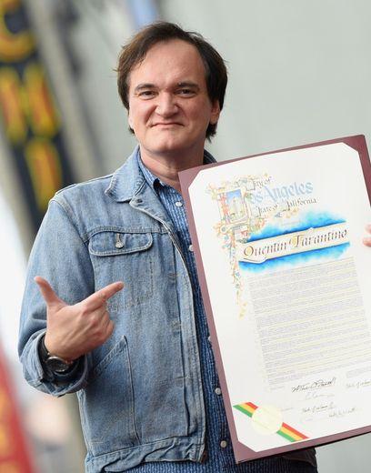 Le réalisateur Quentin Tarantino, à l'inauguration de son étoile à Hollywood, le 21 décembre 2015
