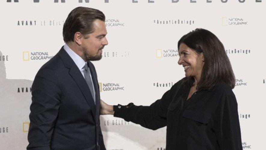 Leonardo DiCaprio présente son film à Paris en présence d'Anne Hidalgo