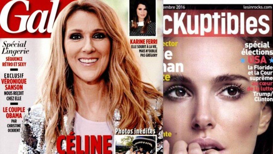 Céline Dion et ses jumeaux, Natalie Portman rédactrice en chef, David Ginola, Les Enfoirés…