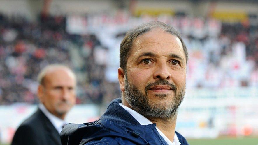 L'entraîneur uruguayen de Nancy Pablo Correa lors du match face au Paris SG, le 15 octobre 2016 au stade Marcel-Picot de Tomblaine