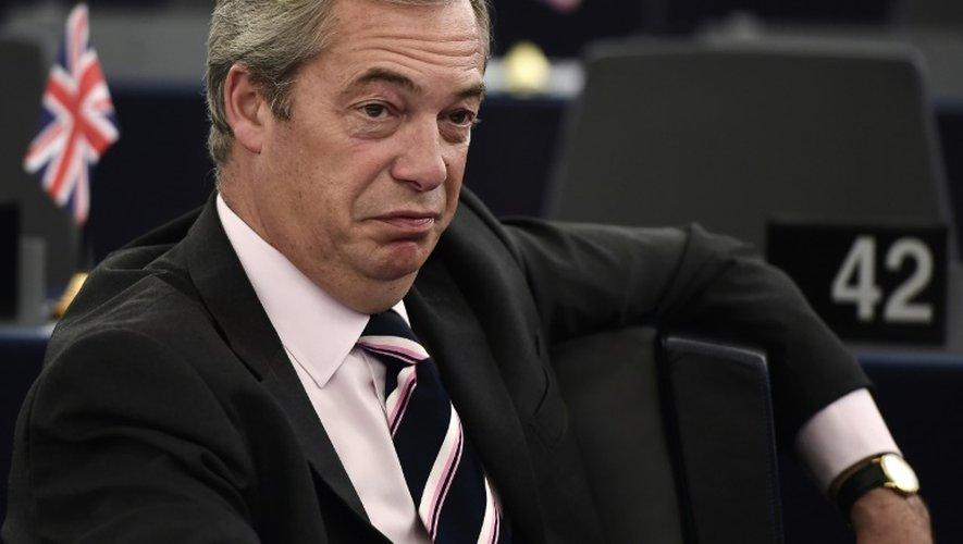Nigel Farage, le leader historique et chef intérimaire du parti europhobe britannique Ukip à Strasbourg, le 26 octobre 2016