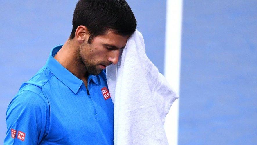Le Serbe Novak Djokovic lors de son quart de finale perdu à Paris-Bercy face au Croate Marin Cilic, le 4 novembre 2016