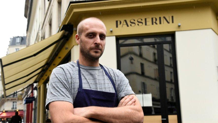 L'Italien Giovanni Passerini, à la tête du restaurant parisien portant son nom, le 4 novembre 2016 à Paris