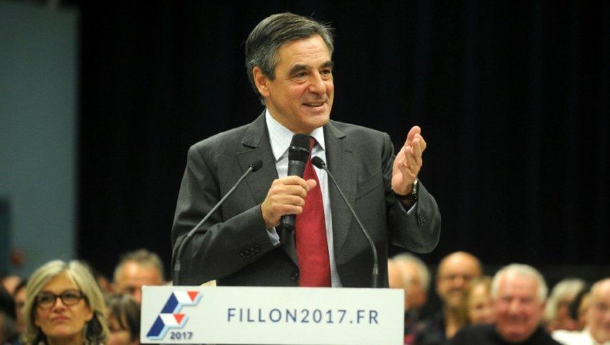 François Fillon lors d'une réunion électorale le 4 novembre 2016 à Saint-Brieuc