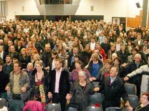 Quelque 1200 fidèles à la veillée de Noël