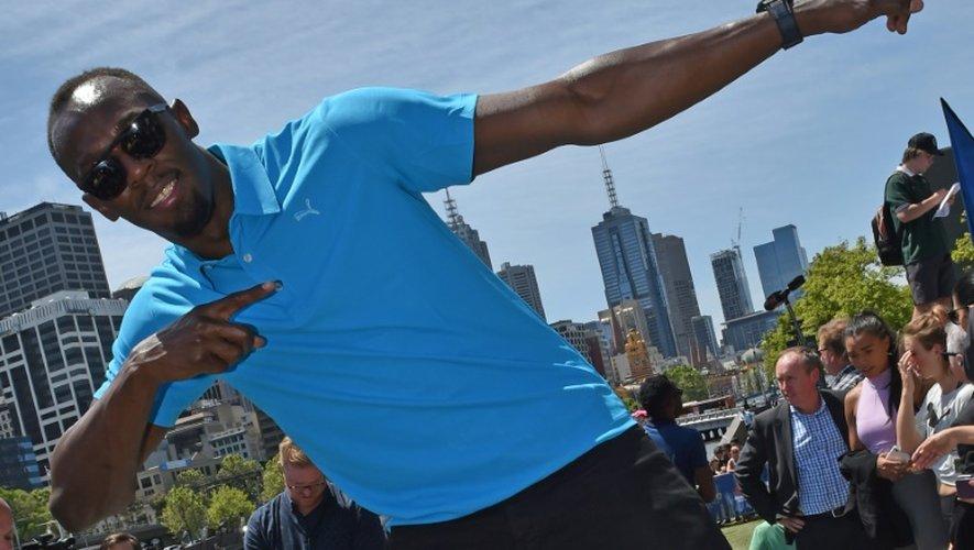 Usain Bolt pose à Melbourne, le 4 novembre  2016