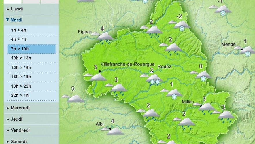 Les premiers flocons de neige attendus mardi en Aveyron