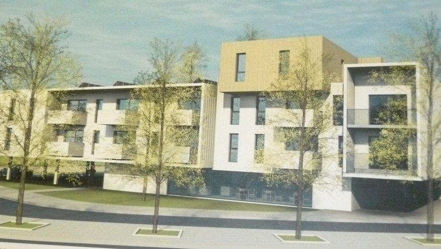 La maquette de la future résidence, côté Nord-Est.