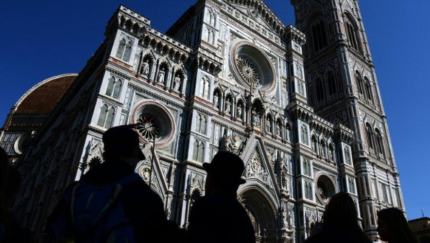 La cathédrale de Florence, située Piazza del Duomo, au coeur de la vieille ville de Florence, le 8 avril 2015