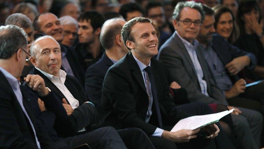 Samedi, à la Maison de l'Aveyron, à Paris, Christian Teyssèdre était au premier rang des soutiens à Emmanuel Macron.