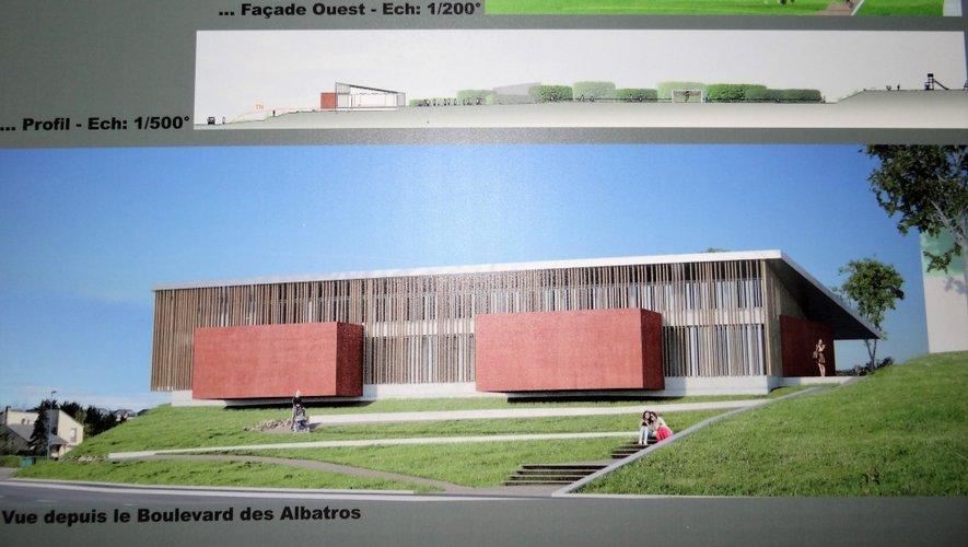 La future Maison des associations vue du boulevard des Albatros
