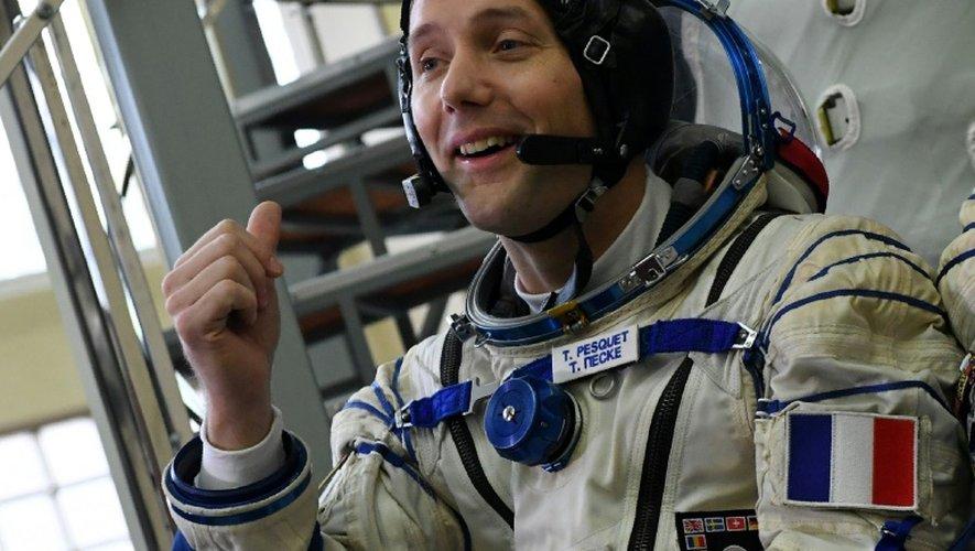 L'astronaute français Thomas Pesquet lors d'un entraînement au centre spatial Gararine le 25 octobre 2016 près de Moscou