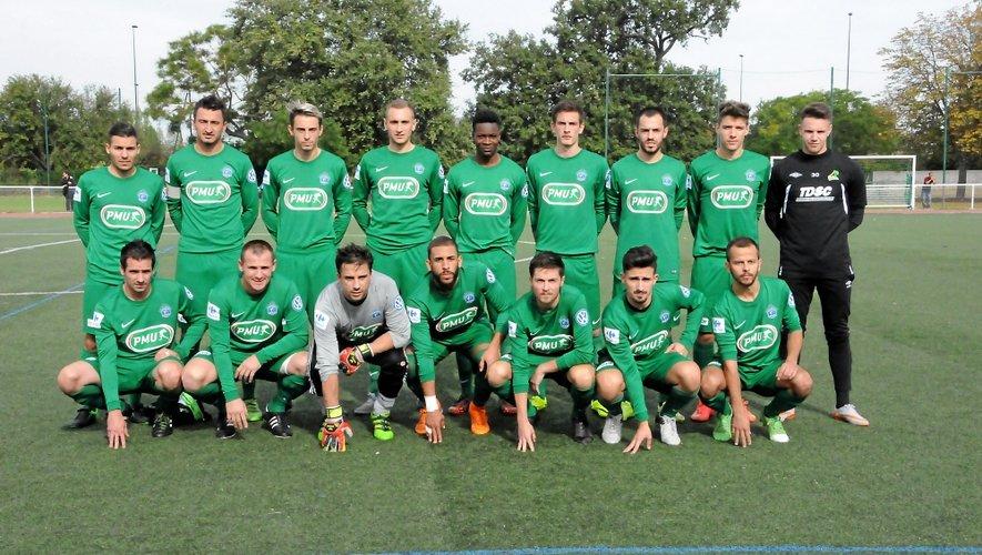 Les 16 Luco-Primaubois qui ont obtenu la qualification au 7e tour, voilà trois semaines, sur le terrain du Toulouse AC.