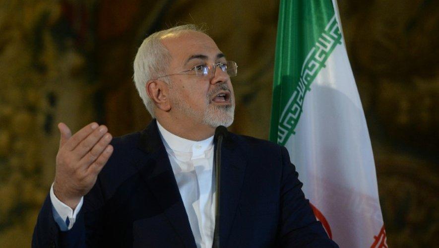 Le ministre iranien des Affaires étrangères Mohammad Javad Zarif, lors d'une conférence de presse le 11 novembre 2016 à Prague