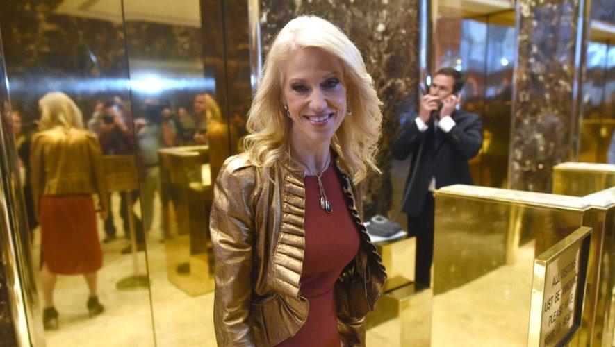 La directrice de campagne de Donald Trump, Kellyanne Conway, à son arrivée le 13 novembre 2016 à la Trump Tower à New York