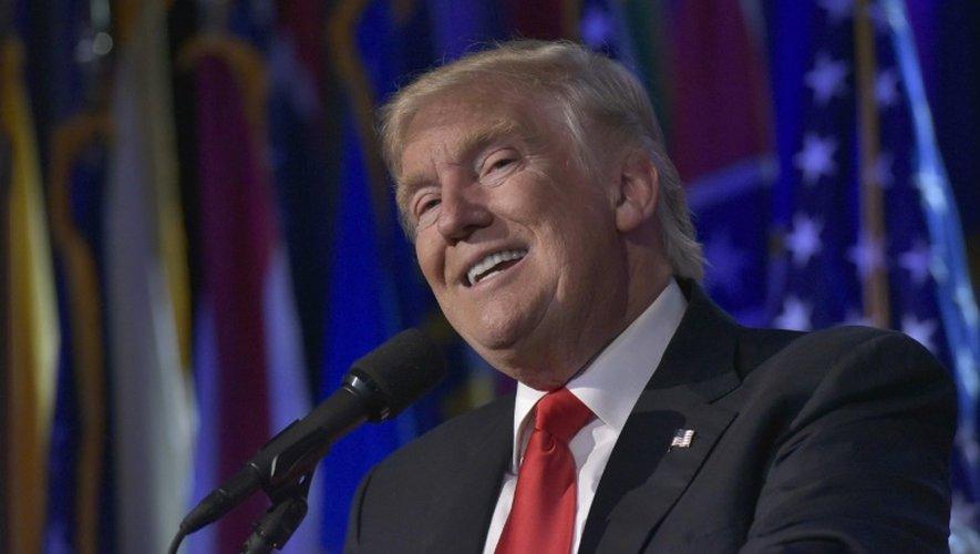 Donald Trump le 9 novembre 2016 au Hilton Midtown à New York