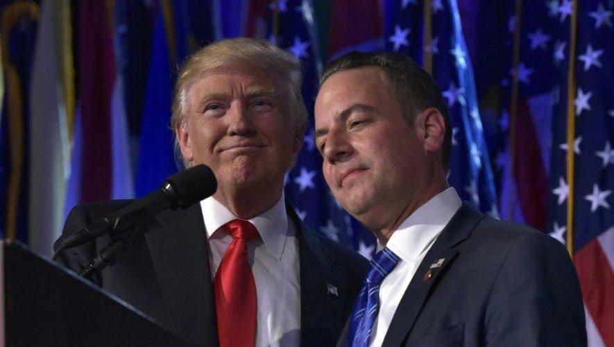 Donald Trump et Reince Priebus le 9 novembre 2016 à New York
