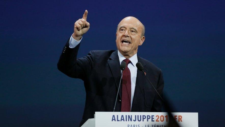 Alain Juppé lors d'un meeting au Zénith le 14 novembre 2016 à Paris